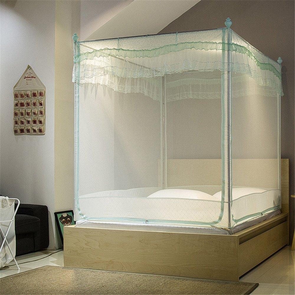 Maybesky Moskitonetz-Reißverschluss-Bett-Art Moskitonetz-U-Art Dreitürverschraubung passend für Schlafzimmer Reise Wesentliches Moskitonetze