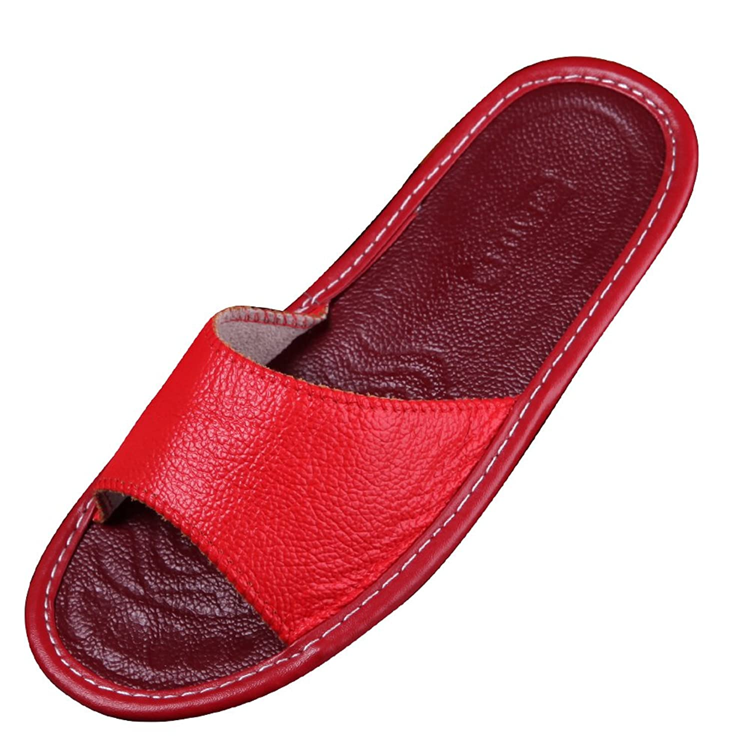 86ec23eadaf9f9 KUIBU Premium Skid-proof Flax House Slipper Indoor Lightweight Hemp Slippers  Slide Scuff Sandals