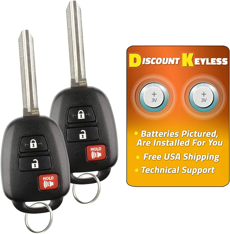 NEW Keyless Entry Key Fob Remote /& Uncut Key COMBO For a 2007 Toyoa RAV4 3BTN