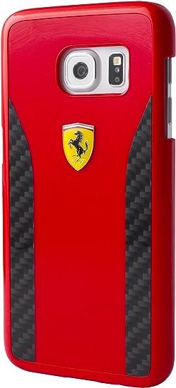 Ferrari FECCHCS7ERE Coque pour Samsung Galaxy S7 Edge Noir: Amazon ...
