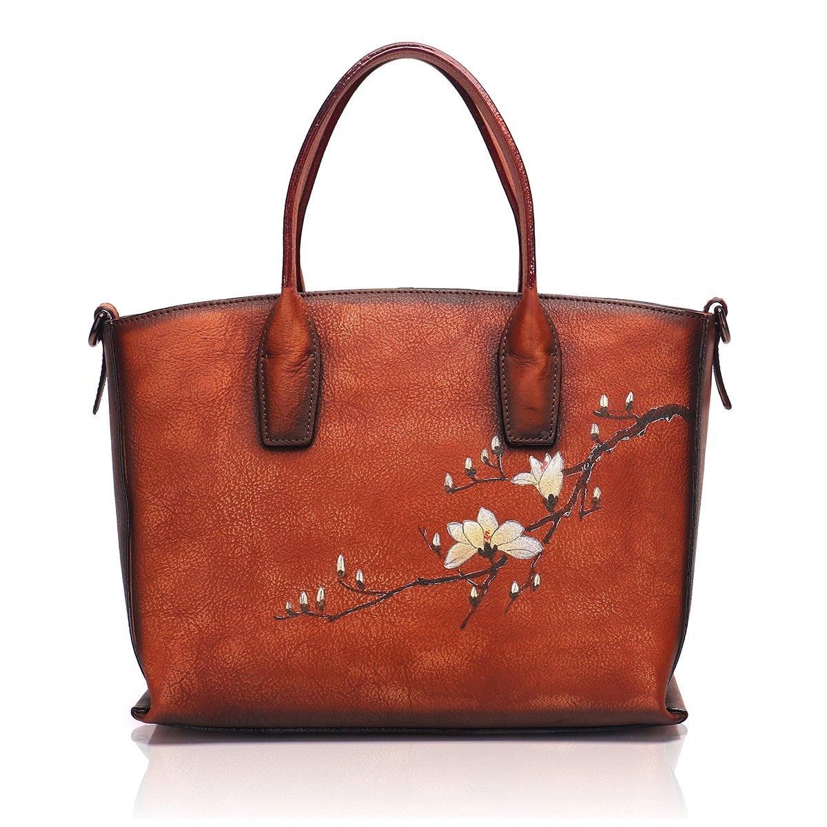 APHISON Designer Soft Leather Totes Handbags for Women, Ladies Satchels Shoulder Bags 8205