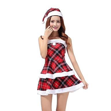 MIAO Traje De Santa Claus Adulto Cosplay Sexy Red Uniforme ...