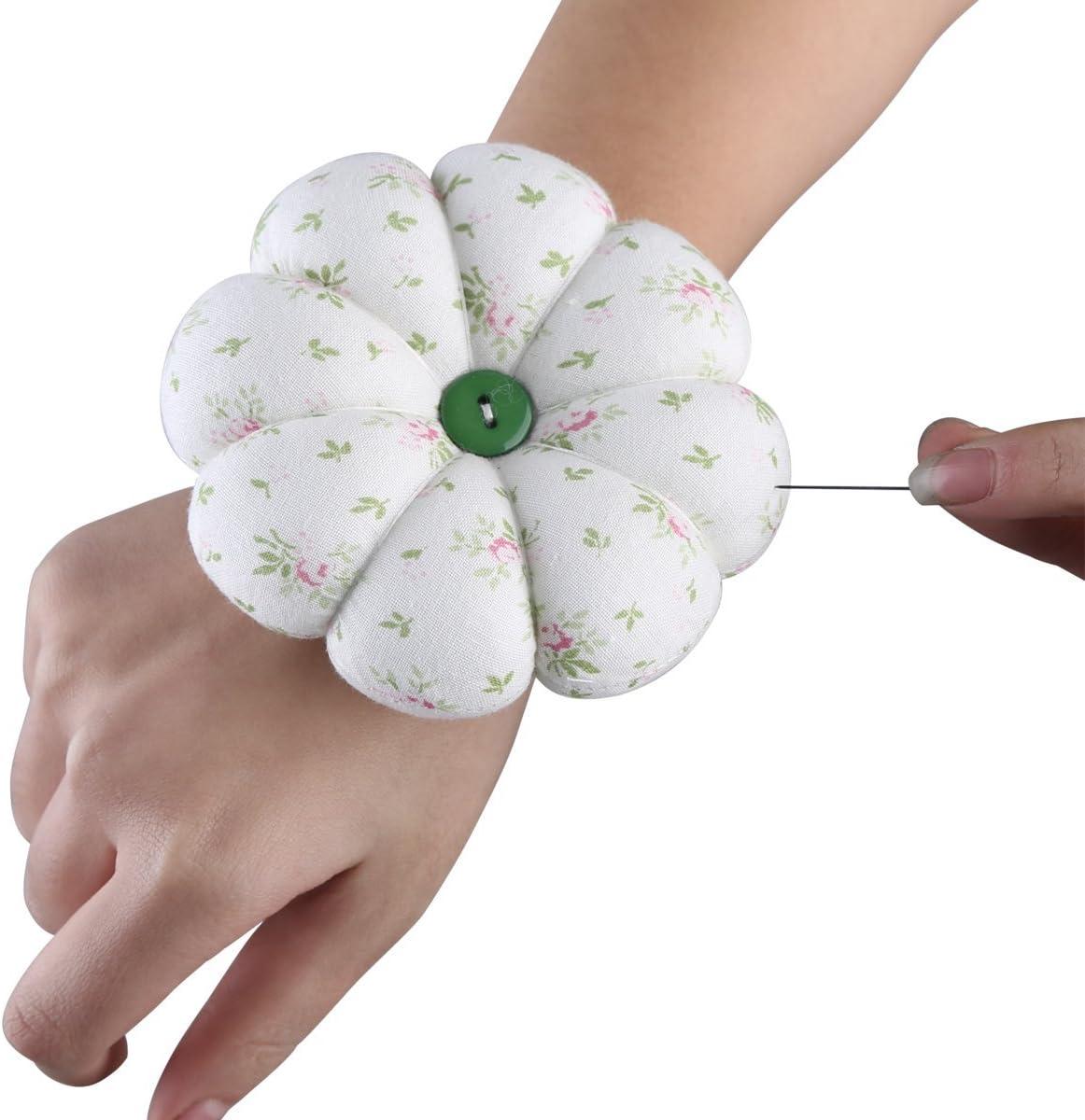 Polka Dot Red by Neoviva Neoviva Fabric Coated Wrist Wearable Pumpkin Pin Cushion for Hand Craft