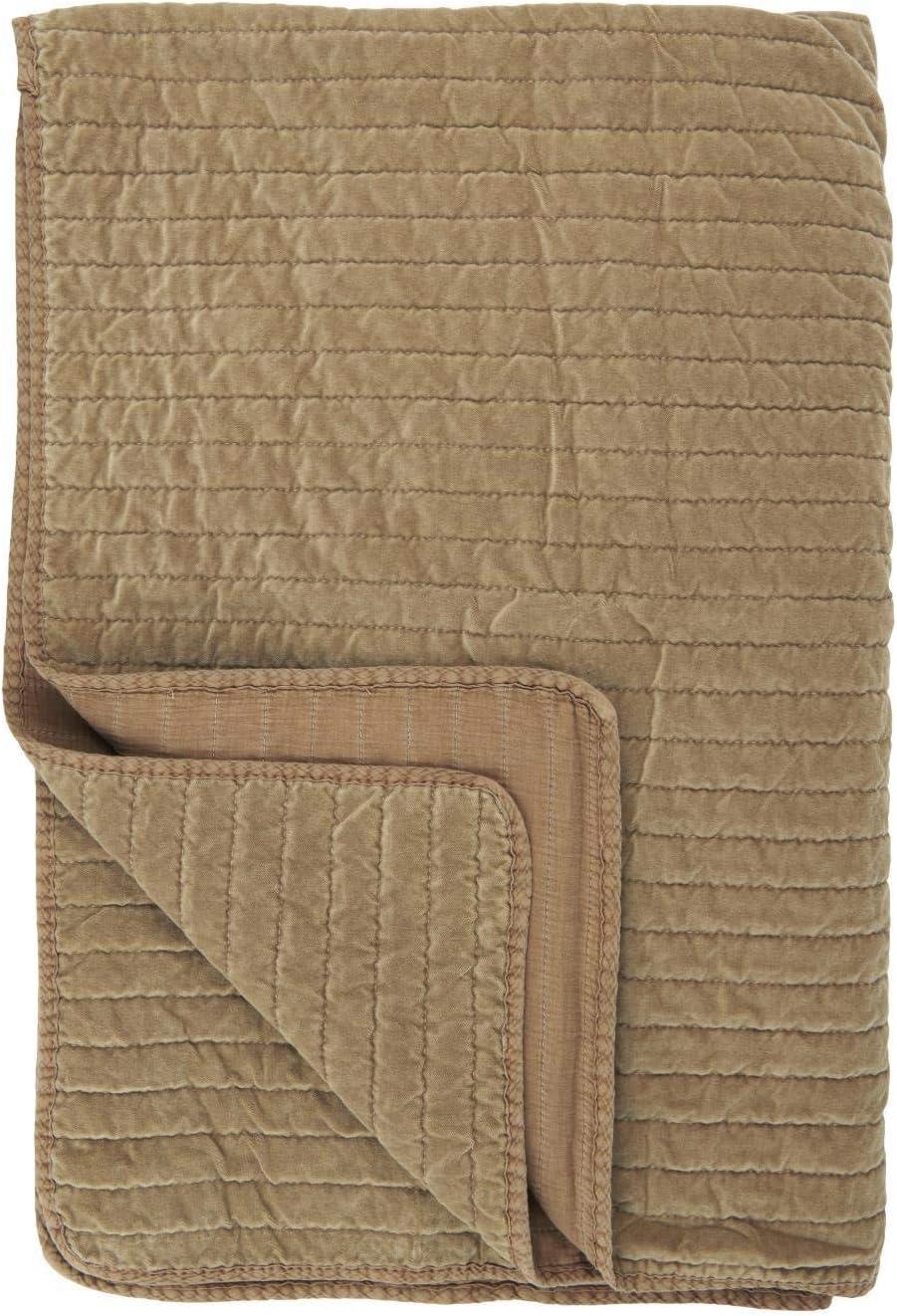 Tagesdecke 180 x 130 cm IB Laursen Quilt 100/% Baumwolle Decke Farbe: Wei/ß-Grau gestreift Kuscheldecke