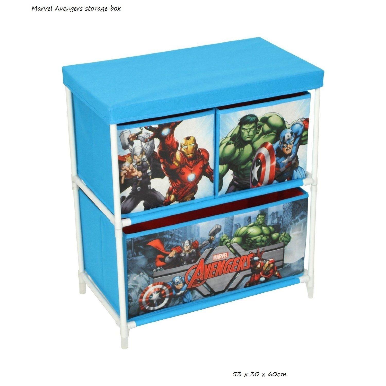 Goethic Disney/Marvel Childrens 2 Tier Cabinet Canvas Kids Playroom Toy Storage