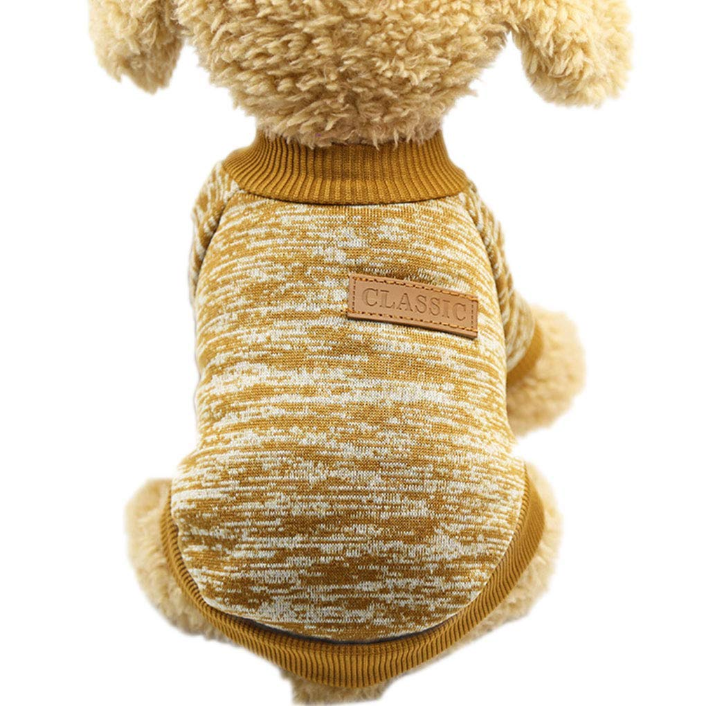 Yevison Premium Quality Dog Cat Sweater Hoodies Puppy Pets Winter Autumn Christmas Top Clothes Snow Sweatshirt Coat