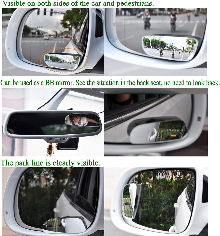Leoboone Universal-300mm-Auto-hinterer Spiegel Weitwinkel-R/ückspiegel Auto Wide Konvexe Kurve Innen Klipp auf R/ückspiegel