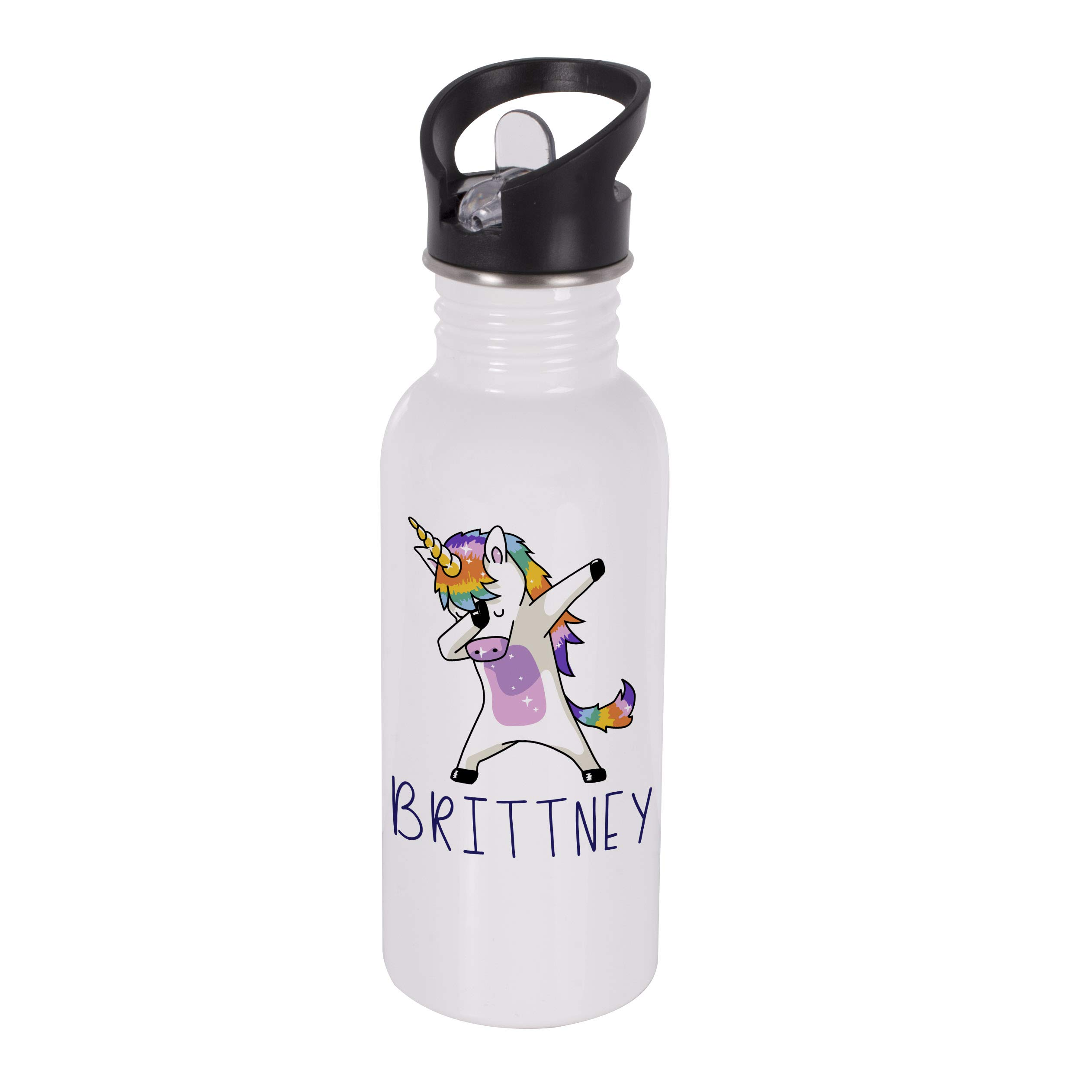 Personalized Gifts Dabbing Unicorn Coffee Mug - 16oz Stainless Steel Sport Water Bottle Tumbler with Lid and Straw -Birthday Gifts, Christmas Gifts, Mother's Day Gifts, Father's Day Gifts