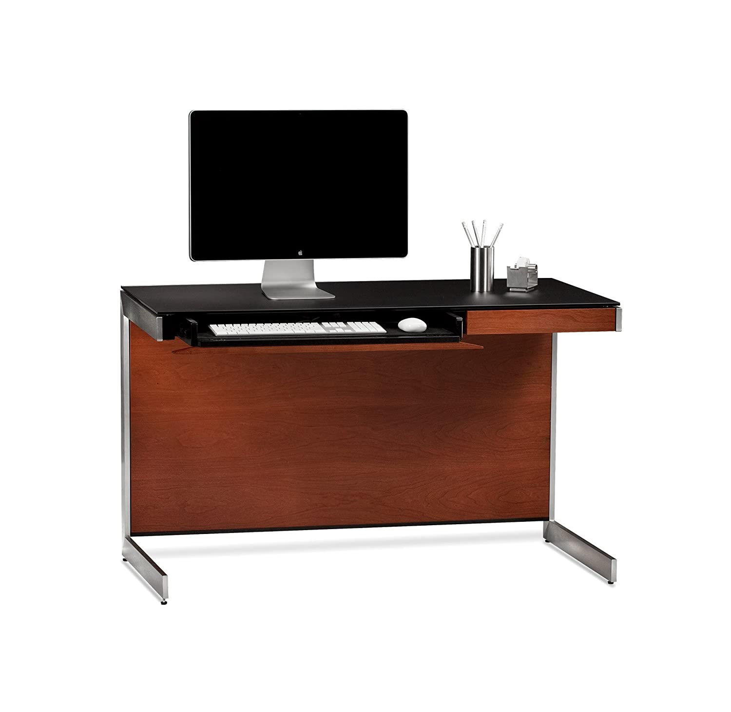 compact office desk. amazoncom bdi sequel compact desk 6003 natural stained cherry home audio u0026 theater office