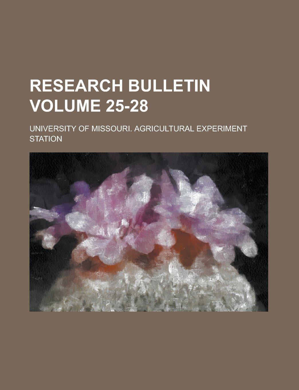Download Research bulletin Volume 25-28 pdf
