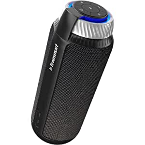 Tronsmart T6 Altavoz Bluetooth Portátil, 25W Sonido Estéreo 360° Altavoz Inalámbrico con Bajos Potentes