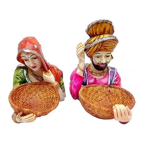 Multicolour Pair Of Punjabi Handicrafts Showpiece Punjab Bhangra