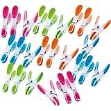 PEARL Wäscheklammersets: Wäscheklammern mit Soft-Grip, 25 Stück, in 4 Farben (Wäscheklemmen-Set)