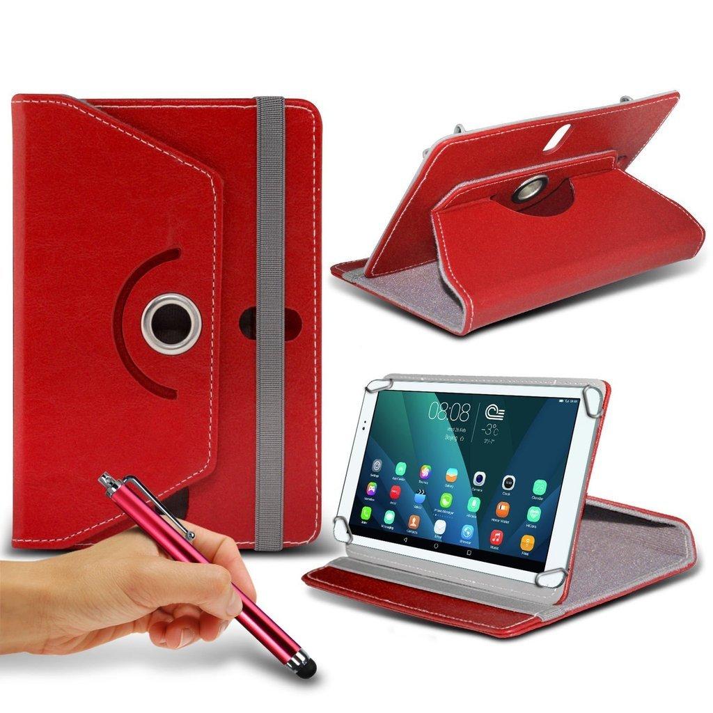 Red Caso Tablet Samsung P1000 Galaxy Tab PC Caso della copertura del basamento Case Cover Tablet PC 7 pollici copertura del basamento per Samsung P1000 Galaxy Tab PC durevole sintetica Roatating caso della copertura cuoio dellunit/&ag 7 pollici