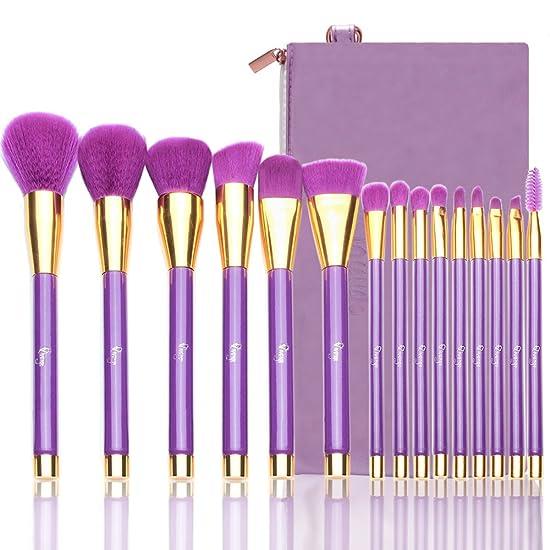 15 Pcs Makeup Brushes Set, Professional Makeup Brushes for Foundation Eye Shadow
