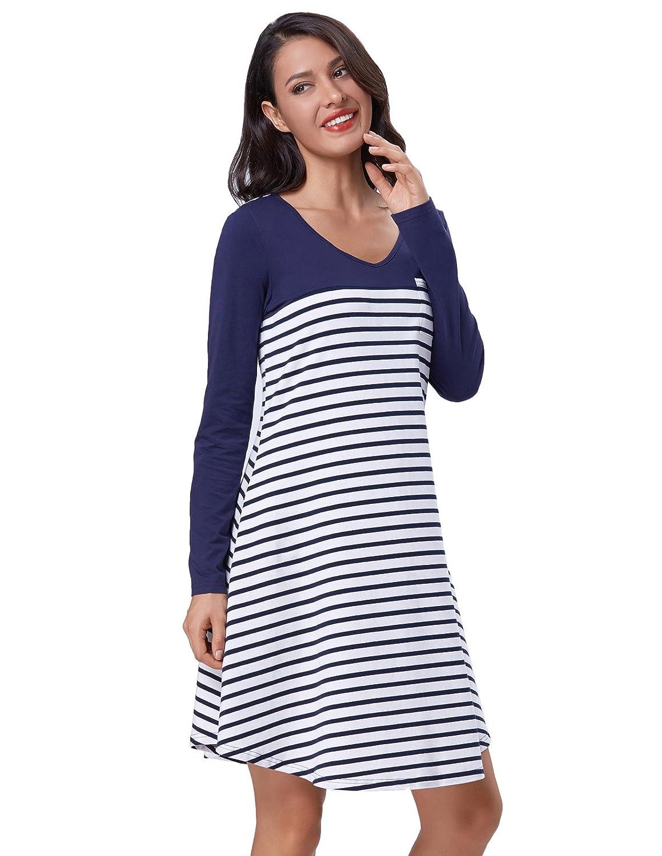 fd696cba49a Striped T Shirt Dress With Pockets - Data Dynamic AG