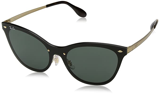Rayban 3580n Gafas de sol Gold Striped 49 para Mujer: Amazon ...