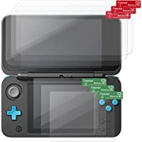 Nintendo New 2DS XL Screen Protector, Insten 3-Pack Top & Bottom Clear LCD Screen Protector [Anti-Fingerprint] [Bubble-Free] Shield Guard Film For Nintendo New 2DS XL