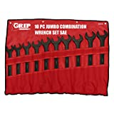 GRIP 89080 Jumbo Combination Wrench Set, Black