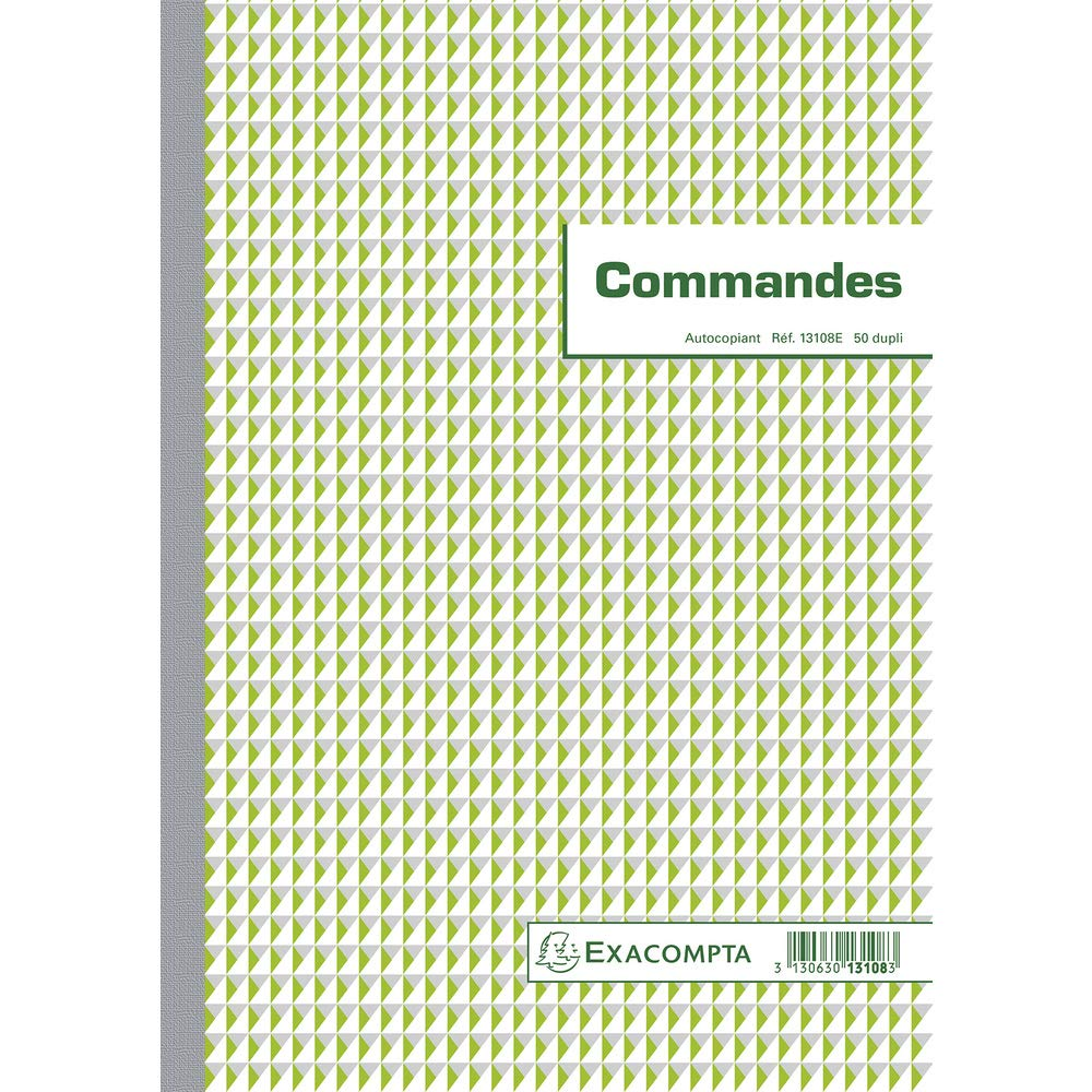 Exacompta Commercial Order Form Book, A4, Vertical, Duplicate Carbonless Copy, 50 Pages (French Printed)