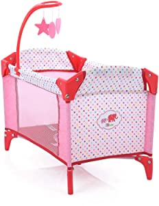 Little Mommy Doll Play Yard with Mobile (D90889). Pack 'n Play Includes Accessory Pouch to Store Baby Doll Diapers, Foldable for Easy Storage / Travel, Fits Dolls up to 18