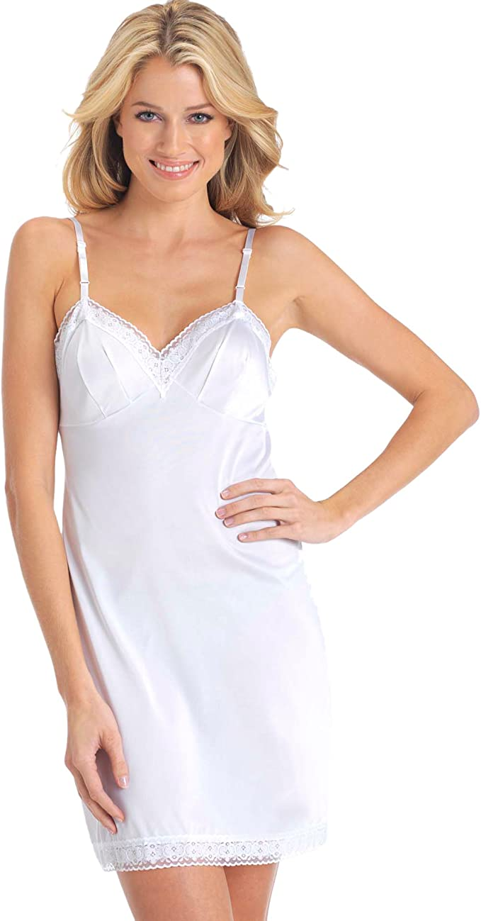 Women's Rosette Lace Full Slip Dress - Prom Dress Hut