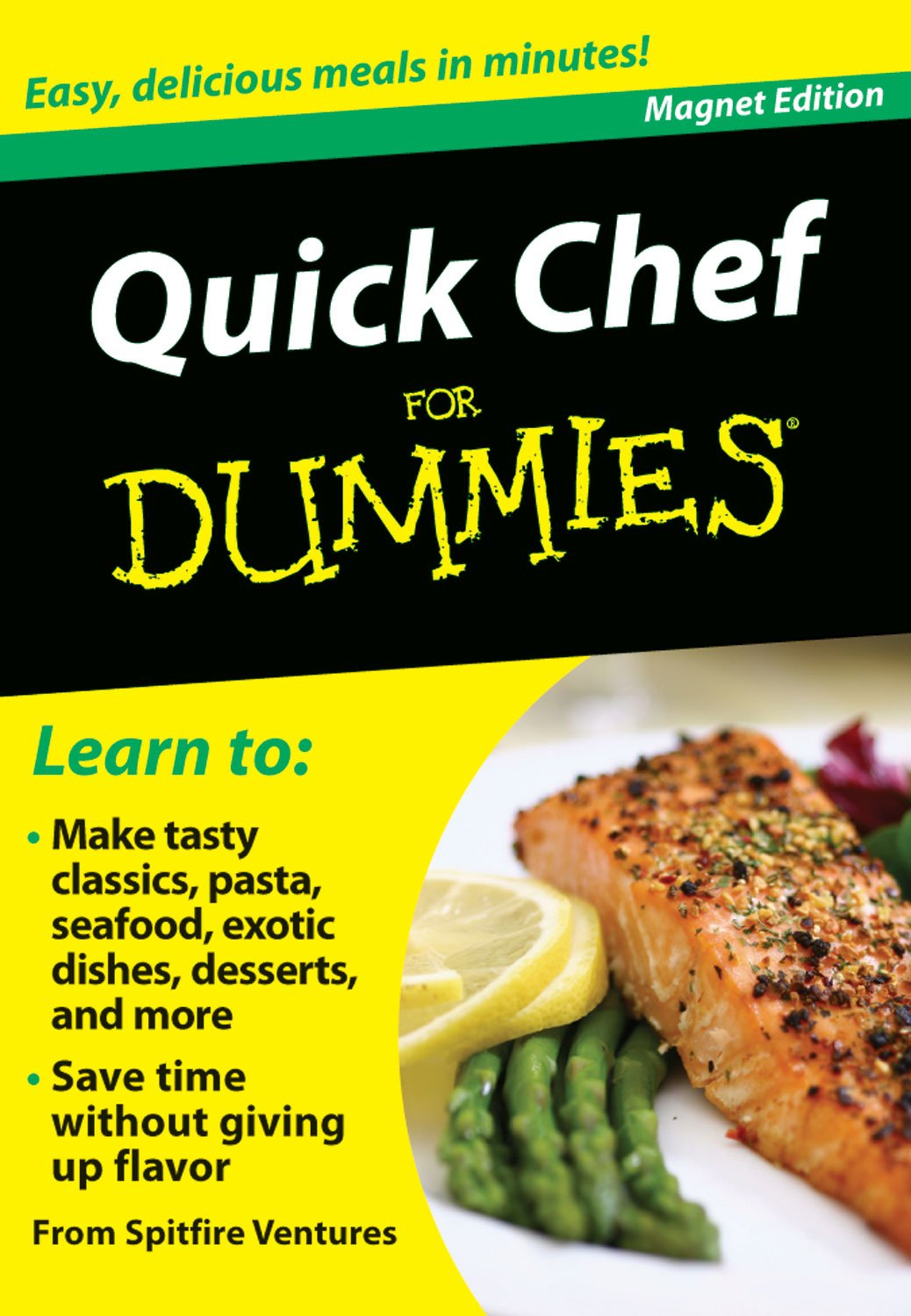 Quick Chef for Dummies: Easy, Delicious Meals in Minutes! (Refrigerator Magnet Books for Dummies) pdf