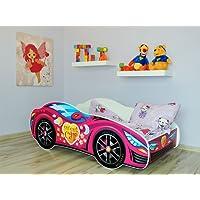 Lit simple Lit enfant Chambre Lit voiture enfant avec matelas.