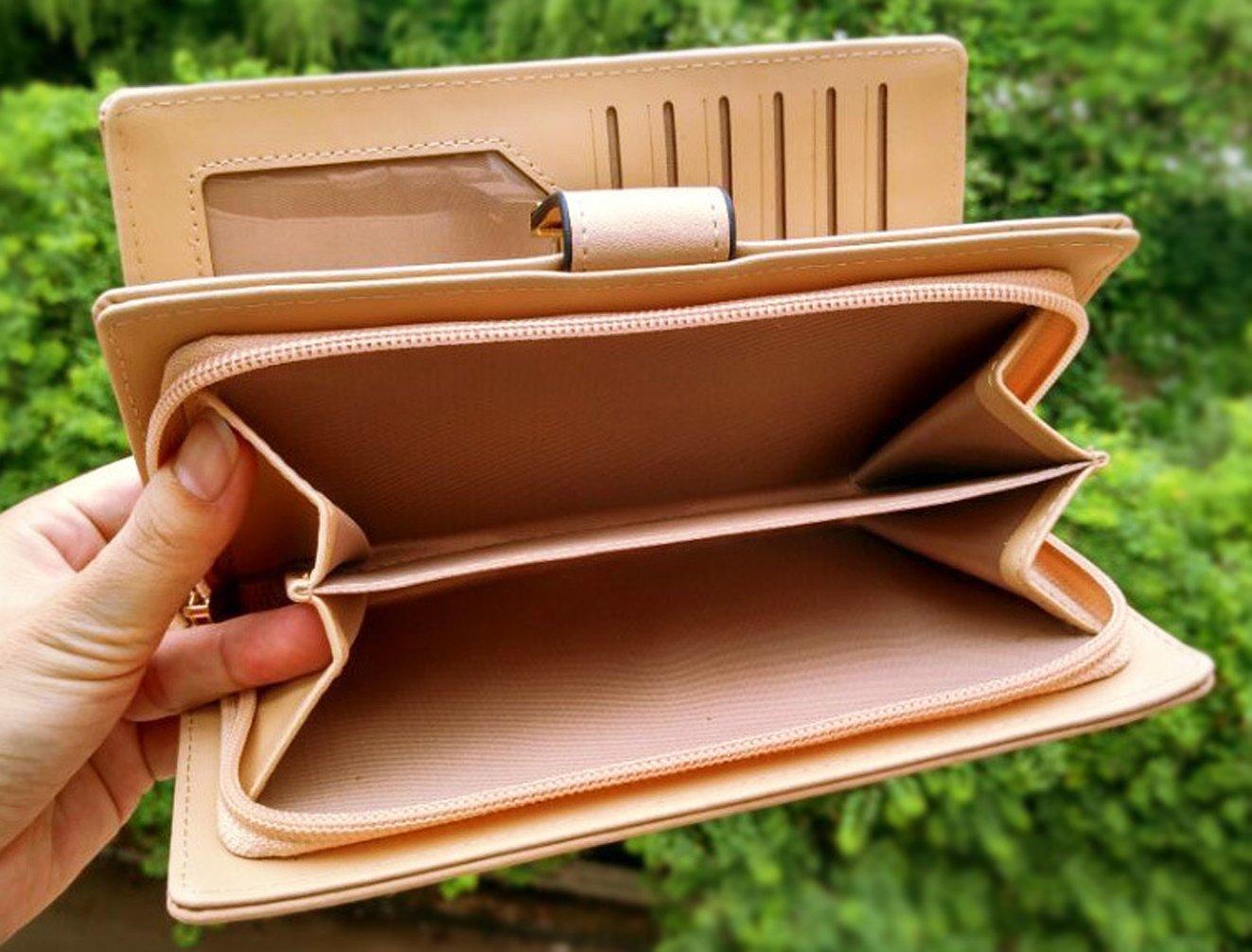 05180b951417f Keshi Pu Cool geldbörse damen lang Pink  Amazon.de  Schuhe   Handtaschen