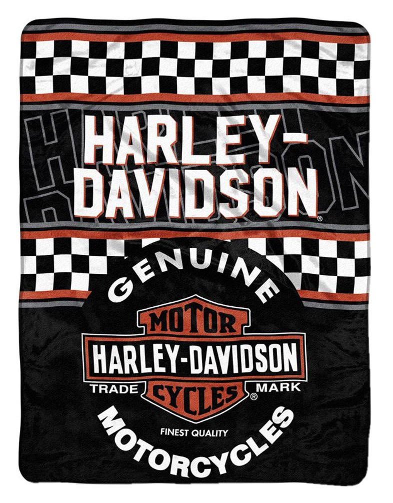 Harley-Davidson Finish Line Micro Raschel Throw Blanket
