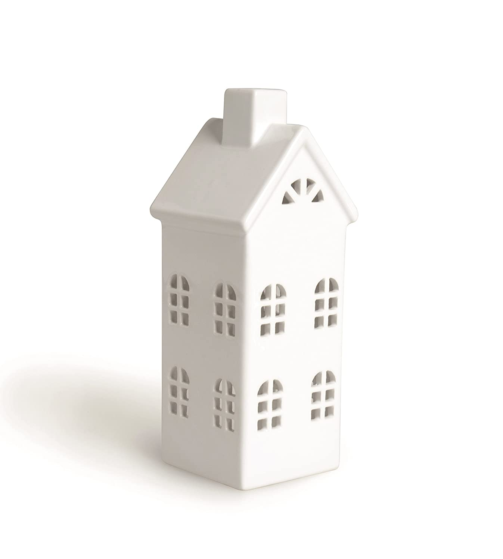 Excelsa Casa Farol, Cerámica, Color Blanco, 8 X 8 X 23 cm Bergamaschi & Vimercati 60365