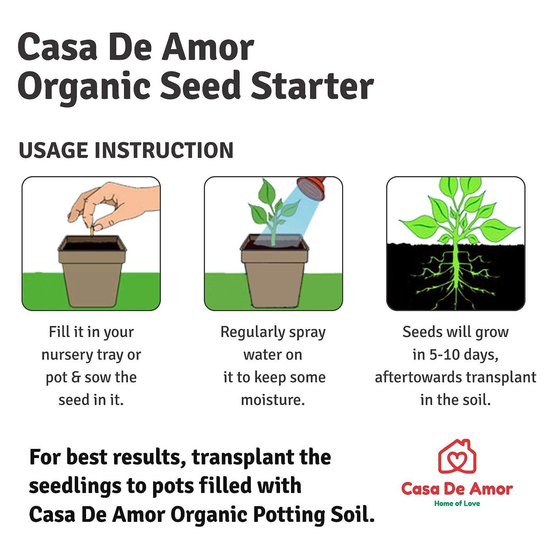 Casa De Amor Organic Seed Starter Mix (2 kg, Brown)