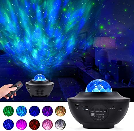 10 Color LED Starry Star Night Light Galaxy Projector Speaker Lamp Projection
