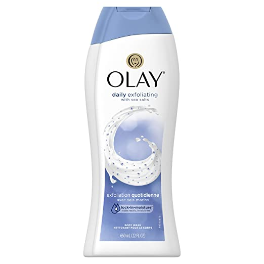 Olay Daily Exfoliating with Sea Salts Body Wash, 22 Fluid Ounce