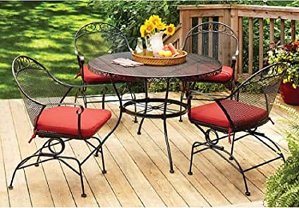 Better Homes and Gardens Clayton Court 5-piece Patio Dining Set, Wrought  Iron Table - Amazon.com: Better Homes And Gardens Clayton Court 5-piece Patio