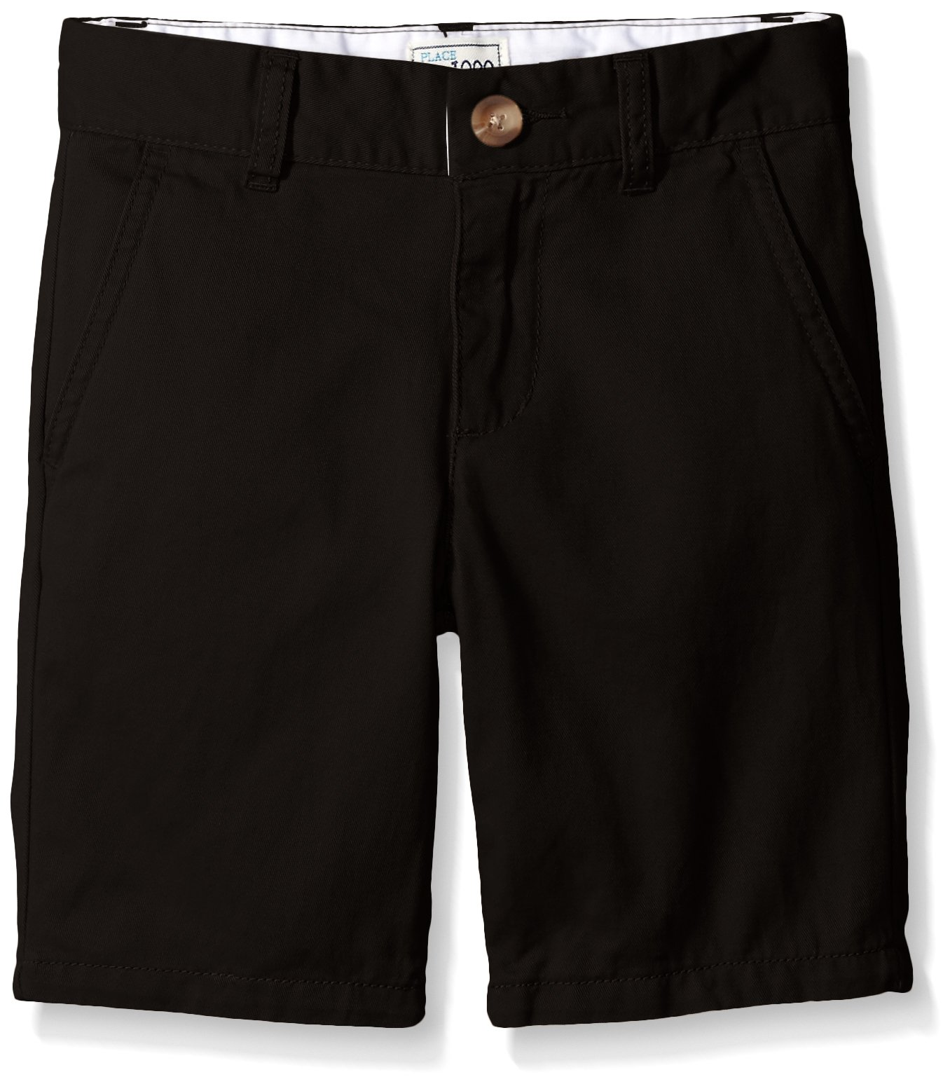 The Children's Place Boys' His Chino Shorts, Black, 10