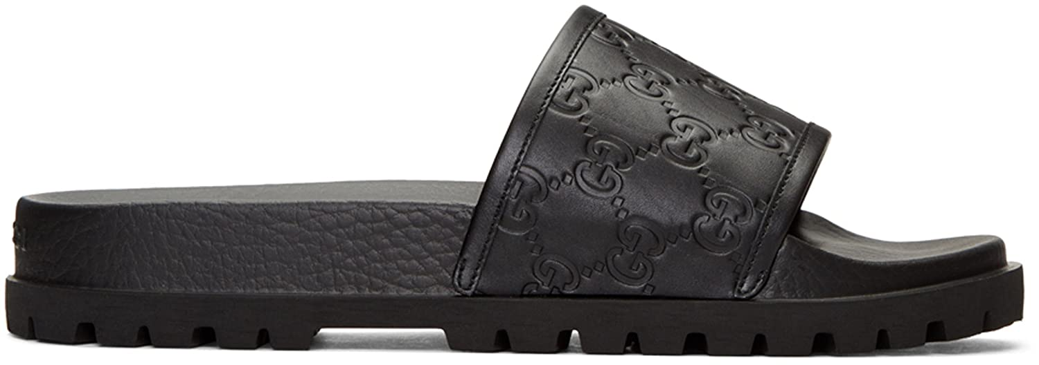 972c16e32bc6 Gucci Black Pursuit Trek Slide Sandals - US Men 7  Amazon.ca  Shoes    Handbags