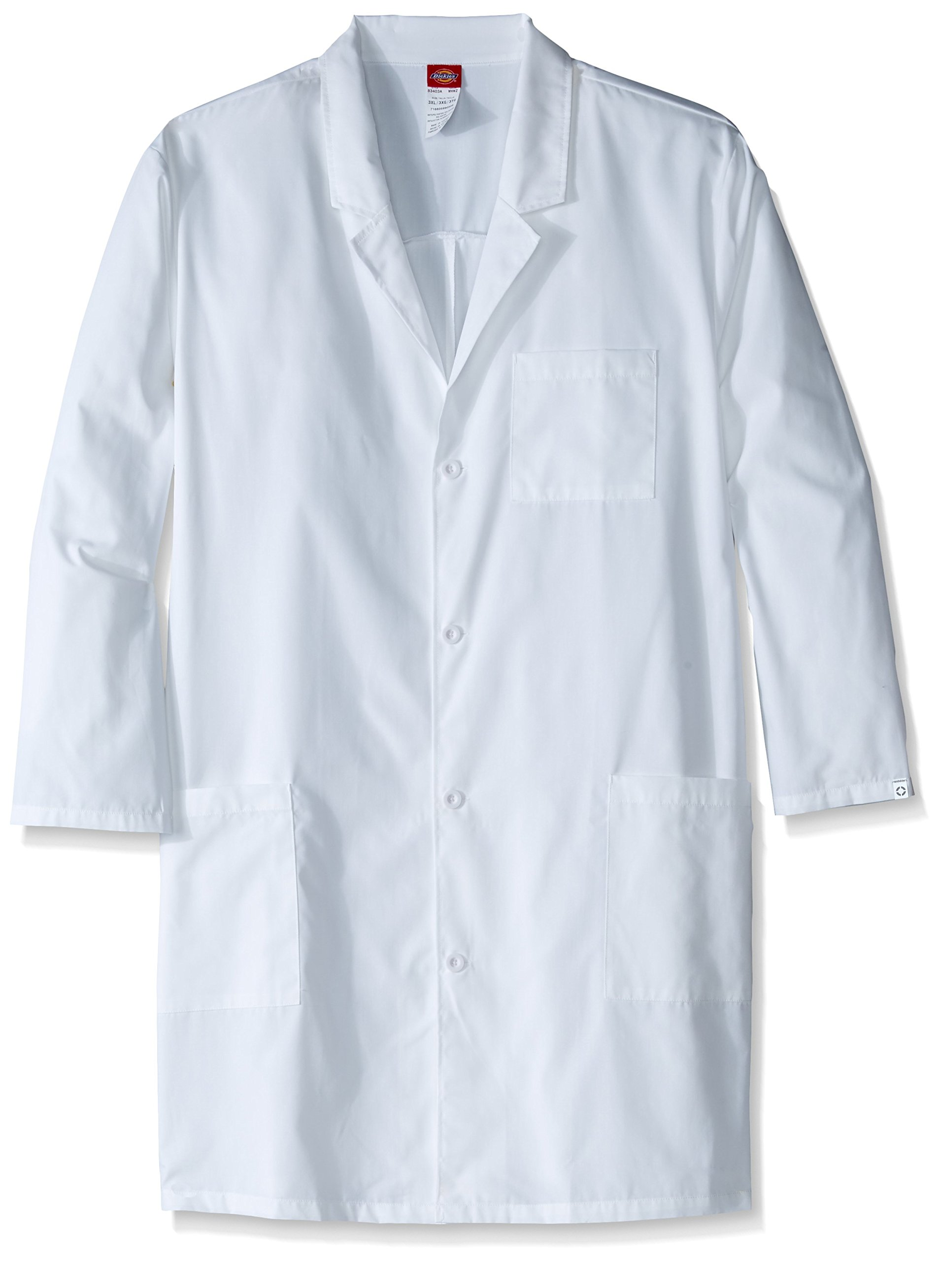 Dickies Men's Big and Tall EDS Professional with 40 inch Unisex Lab Coat, White, 4X-Large