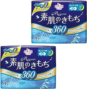エリス Megami 素肌のきもち スリム 羽つき 36cm (特に多い夜) 18枚(9枚入×2パック) 【まとめ買い】