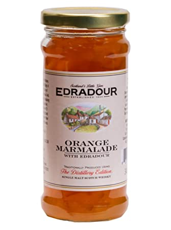 MacKays, Set of 2 Jars, Edradour Whisky Gourmet Orange Marmalade, Imported from Scotland