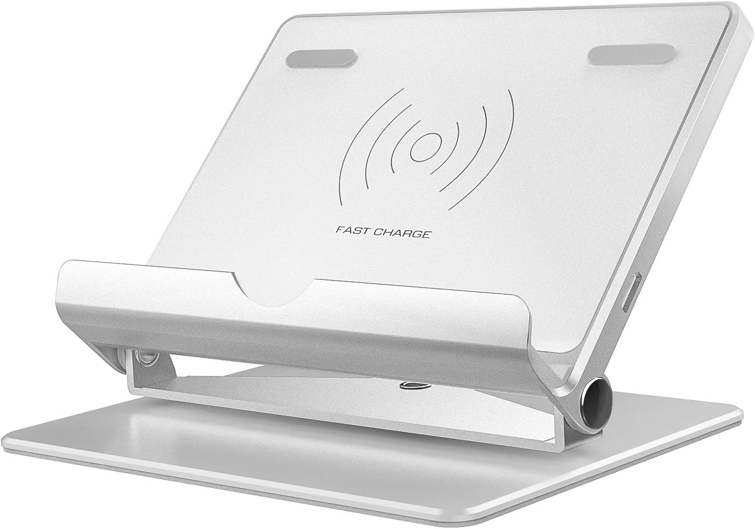 Silver MoKo Fast Charge Wireless Charging Stand 360 Degree Rotation Foldable Charger Cradle for iPhone SE 2020//11 Pro Max//11 Pro//11//X//8//8 Plus Samsung Galaxy S10//S10+//S10e//S9//S9+//Note 8//S8//S8 Plus