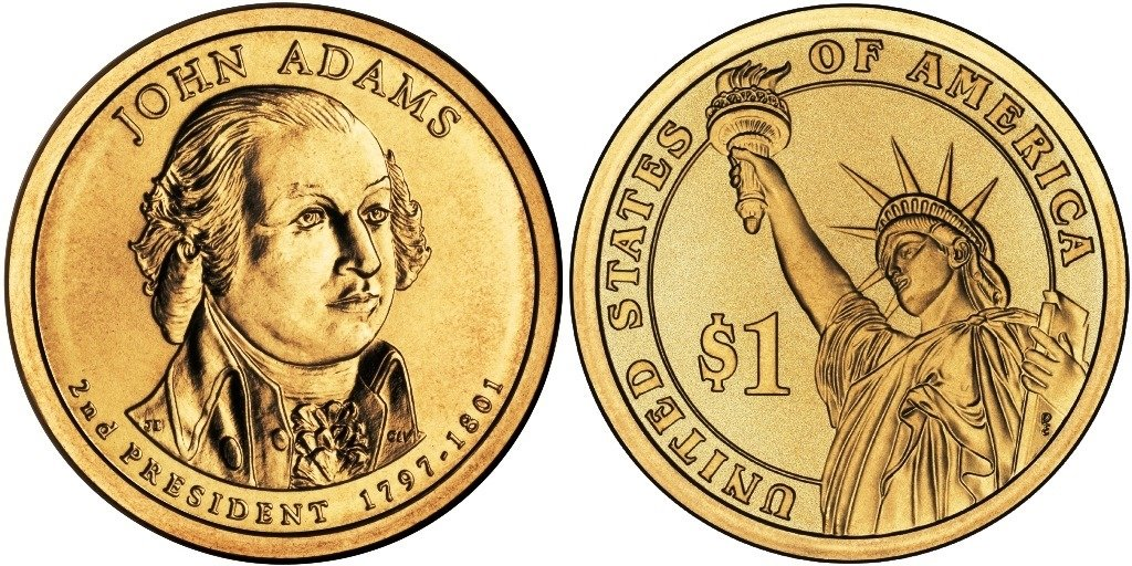 SEE PICTURES 2007-D JOHN ADAMS DOLLAR ICG-MS63 OR BETTER A-22-15