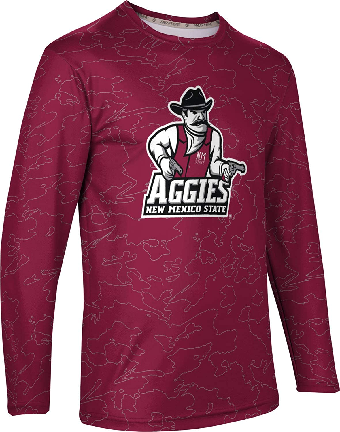 ProSphere New Mexico State University Mens Long Sleeve Tee Topography
