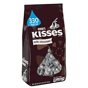 Amazon Com Hershey S Kisses Milk Chocolate 330 Pieces