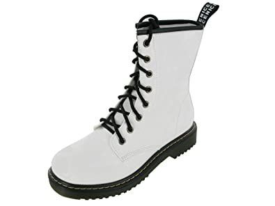 1c155ea438b096 Image Unavailable. Image not available for. Colour: BRAND NEW LADIES SMOSH EYELET  LACE UP BOOTS UK SIZES 3 4 5 6 7 8