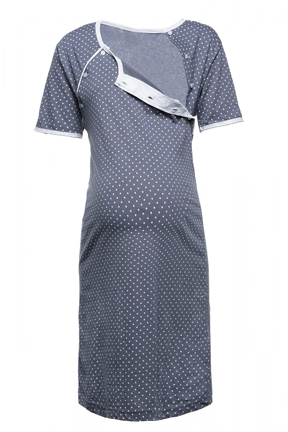 6152756fe9a Clothing & Accessories Happy Mama. Womens Maternity Hospital Gown Nightie  Polka Dot Breastfeeding.