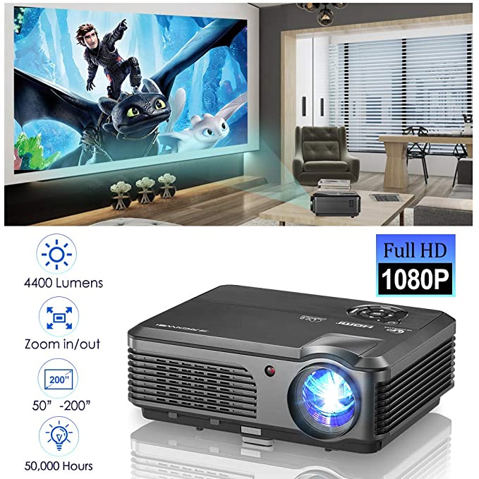 Amazon.com: Proyector de cine en casa portátil: Electronics
