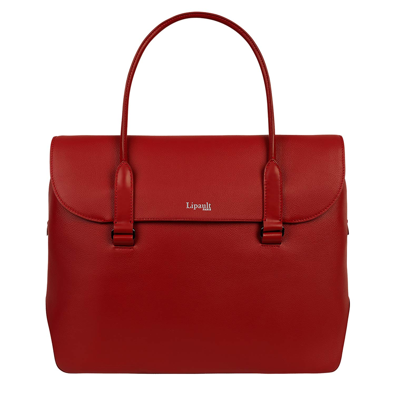 Lipault - Plume Elegance Tote Bag - 15.6'' Laptop Top Handle Shoulder Handbag for Women - Ruby