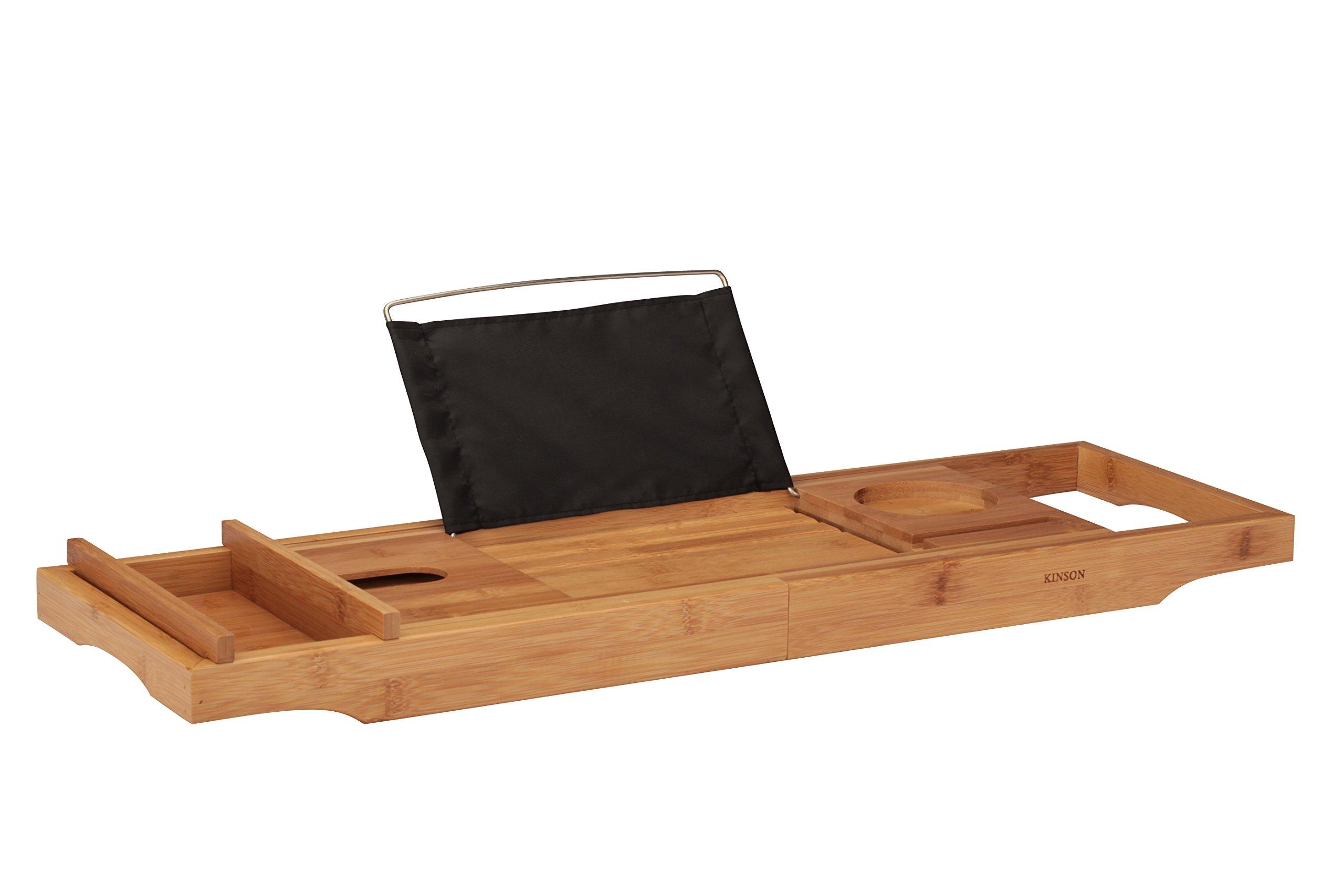 KINSON Bamboo Bathtub Caddy Tray