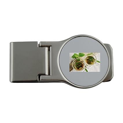 Metal dinero clip con té de hierbas, hierbas, tee, verde ...